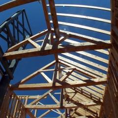 Slopeside Roof Framing